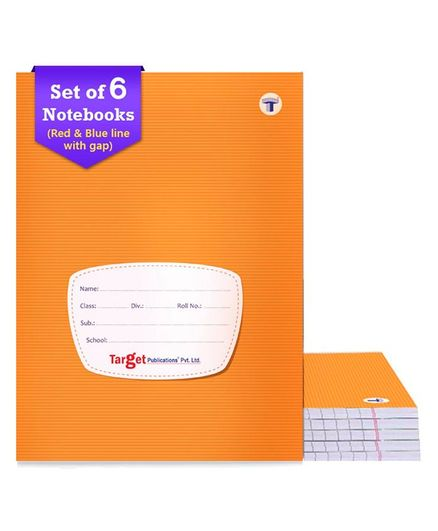 Target Four Line Ruled Small Notebooks Pack of 6 - 172 Pages each