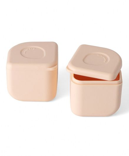 Miniware 100% Silicone Leakproof Silipods Pack of 2  - Peach - 120 ml