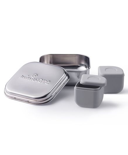 Miniware Grow Bento & Silipods Lunch Box - Grey