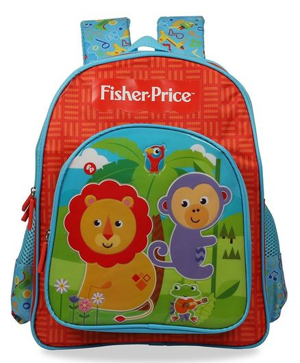 Fisher Price School Bag Red Blue - 14 Inches