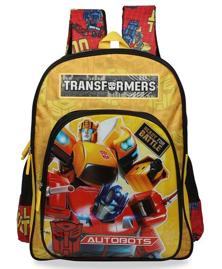 Transformers School Bag Yellow - 18 Inches