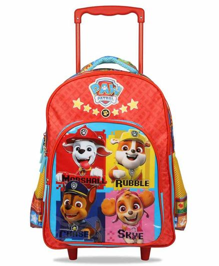 Paw Patrol Trolley School Bag Red - 16 Inches