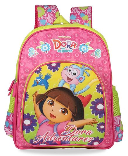 Dora The Explorer School Bag Blue Pink - 14 Inches
