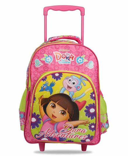 Dora the Explorer Trolley School Bag Pink - 16 Inches