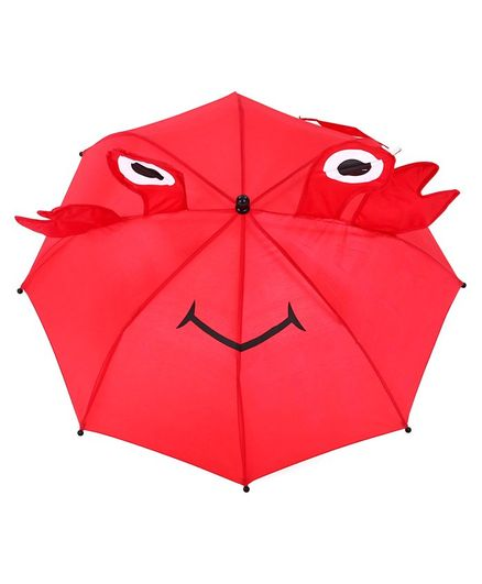 3D Pop Up Umbrella  Crab Print - Red