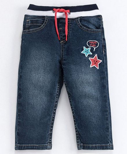 Babyoye Full Length  Solid Jeans - Blue