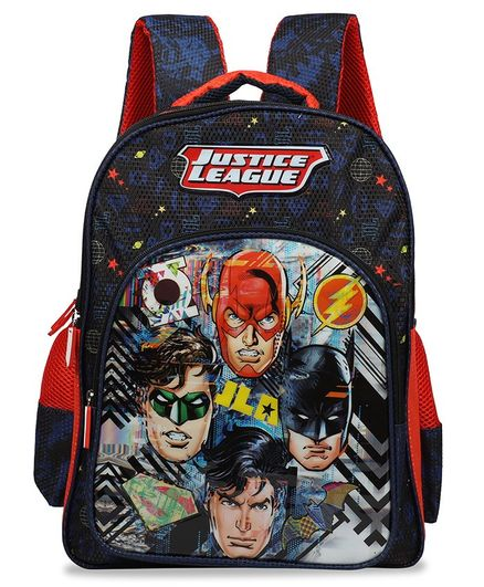 DC Comics Justice League School Bag Navy - 18 Inches