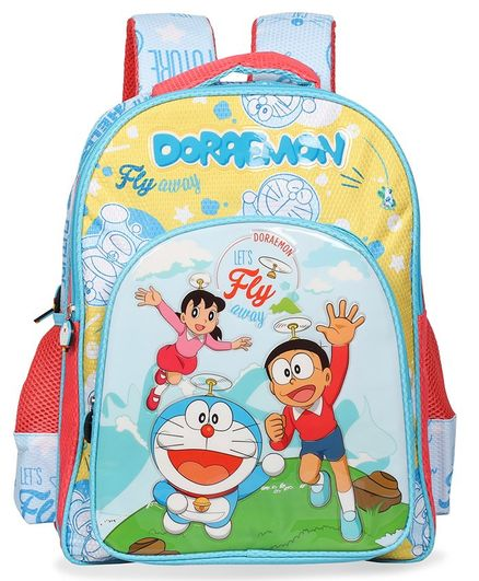 Doraemon School Bag Blue - 14 Inches