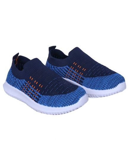 FEETWELL SHOES Colour Block Pattern Slip On Shoes - Blue