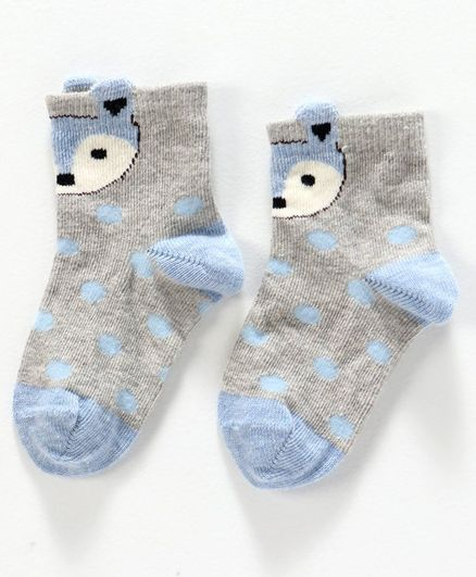 Mustang Socks Animal Design - Grey