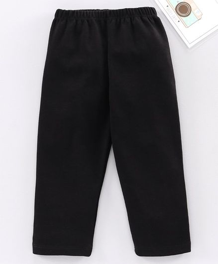 Babyhug Full Length Solid Leggings - Black