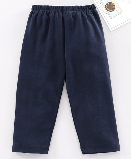 Babyhug Full Length Solid Leggings - Navy