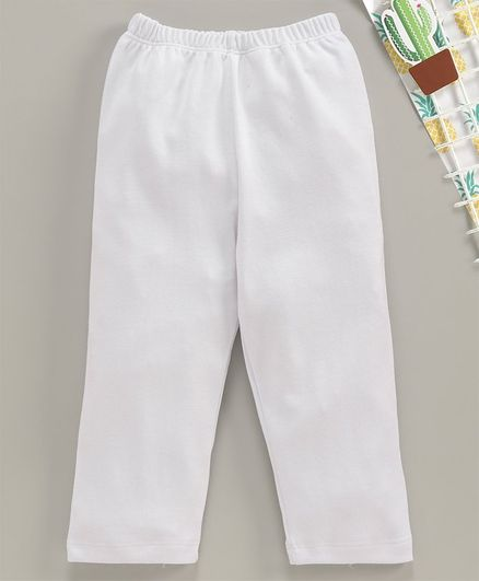 Babyhug Full Length Solid Leggings - White