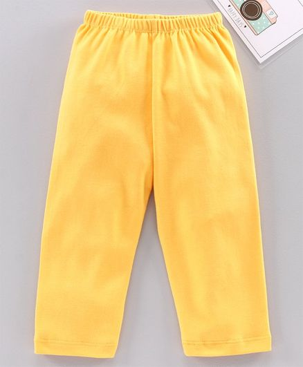 Babyhug Full Length Solid Leggings - Yellow