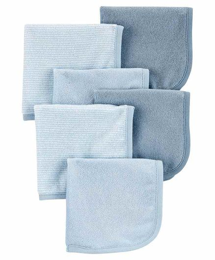 Carter's 6-Pack Burp Cloth - Blue