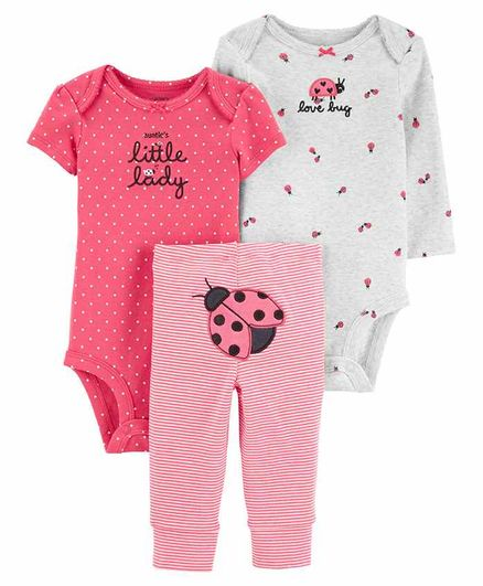Carter's 3-Piece Ladybug Little Character Set - Pink