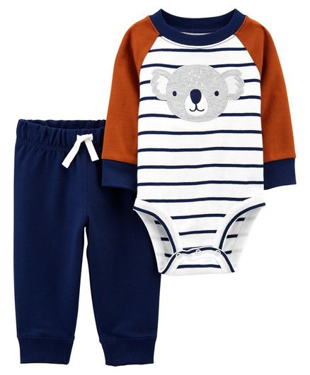 Carter's 2-Piece Koala Bodysuit Pant Set - Brown Blue