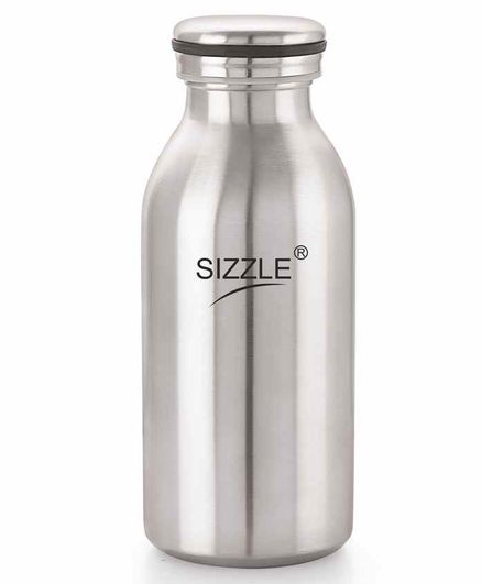 Sizzle Stainless Steel Water Bottle Silver - 450 ml