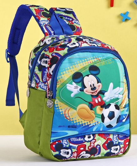 Disney School Bag Mickey Mouse Print Blue - 12 Inches