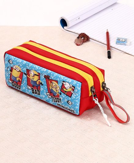 Minions Pencil Pouch - Blue Red