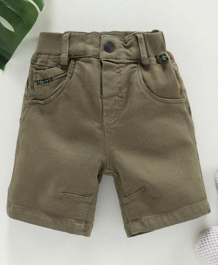 Little Kangaroos Denim Shorts - Olive