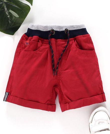 Little Kangaroos Shorts with Drawstrings - Red