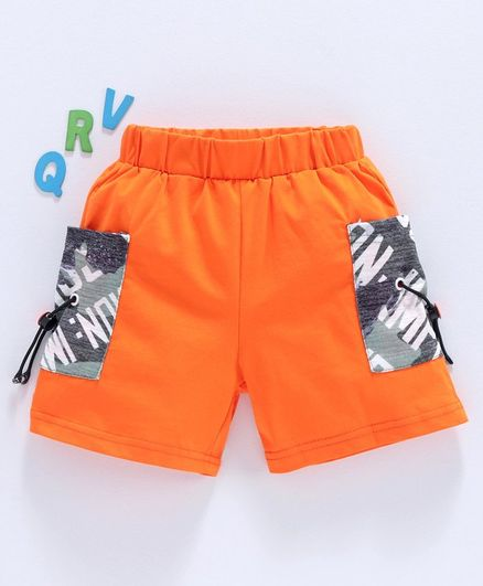 Meng Wa Solid Shorts - Orange