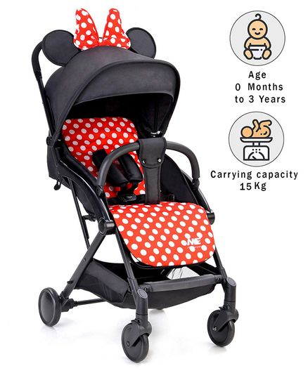 Baby Stroller with Canopy and Recliner - Black