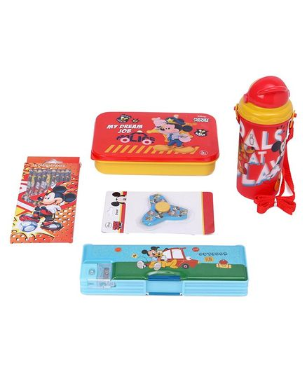Disney Mickey Mouse and Friends School Kit Pack of 5 - Yellow Red
