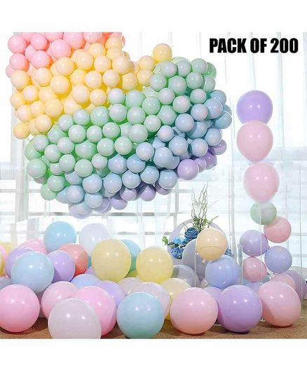 Party Propz Latex Balloons Combo Set Multicolor - Pack of 200