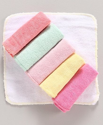 Babyhug Hand & Face Towels Pack of 6 - Multicolor