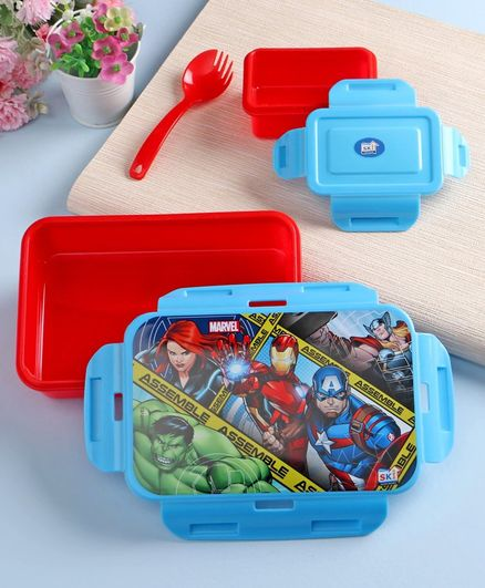 Marvel Lunch Box Clip Lock Red & Blue - 550 ml