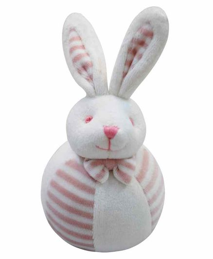 Abracadabra  Bunny Soft Toy with Rattle- Pink