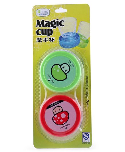 Magic Cups Pack of 2 - Green & Red