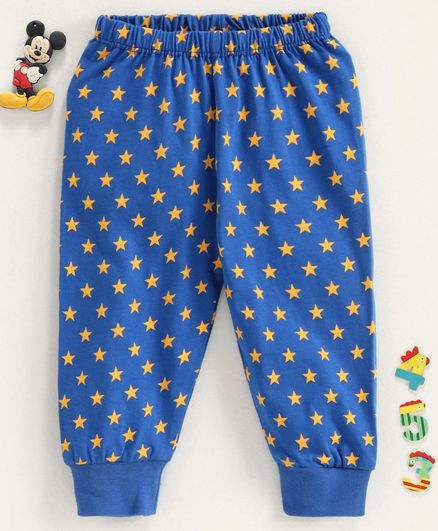 Babyhug Full Length Lounge Pant Allover Star Print - Blue