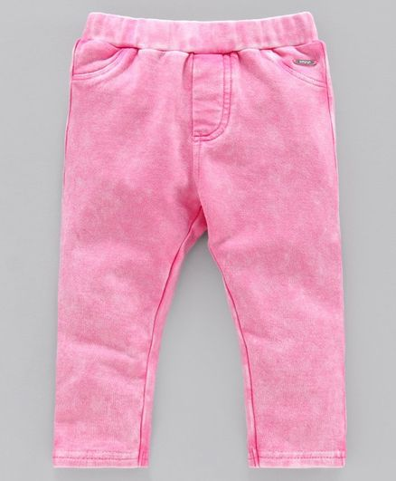 Babyoye Cotton Solid Colour Pull Up Pants - Pink