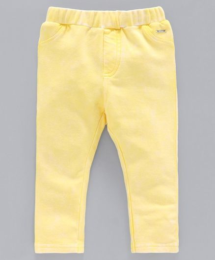 Babyoye Cotton Solid Colour Pull Up Pants - Yellow