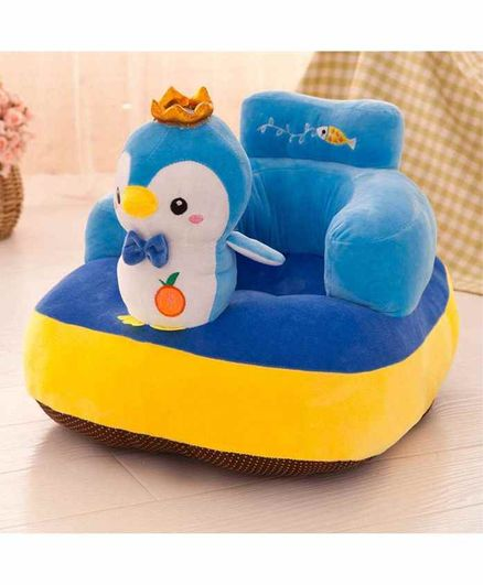 Skylofts Penguin Face Sofa for Kids - Blue