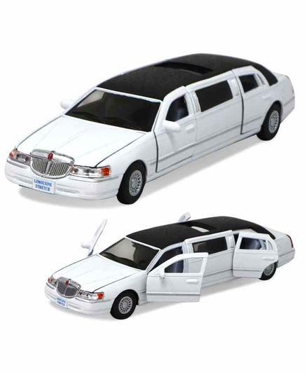 Fiddlerz Die Cast Pull Back Limousine Toy Car - White