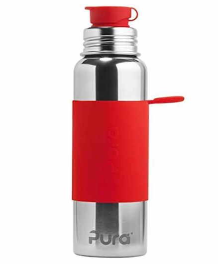 Pura Big Mouth Stainless Steel Insulated Sports Water Bottle Red - 850 ml