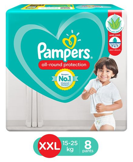 Pampers Baby Dry Pants Style Diapers XXLarge - 8 Pieces