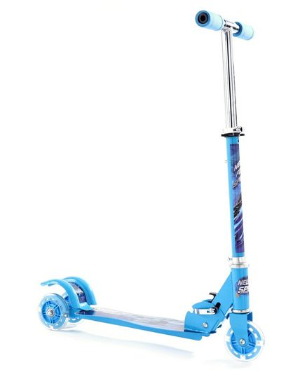 Three Wheel Kids Scooter Butterfly Print  - Blue