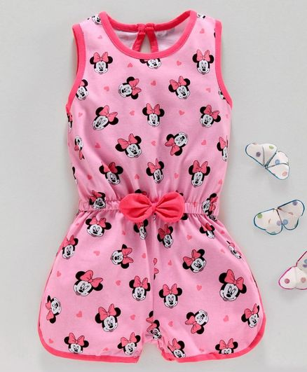 Disney by Babyhug Neck Jumpsuit - Pink