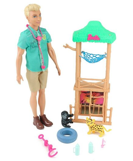 Barbie Ken Wildlife Vet Multicolor - Height 26.7 cm