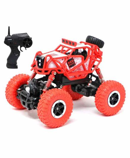 Fiddlerz Remote Control Rock Crawler Car - Red