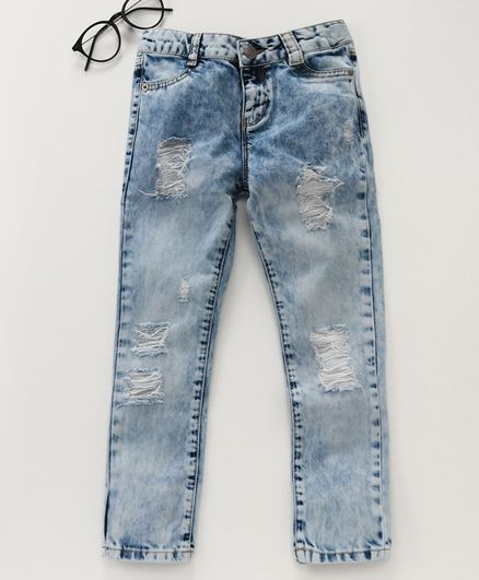 LC Waikiki Full Length Washed Out Effect Jeans - Blue