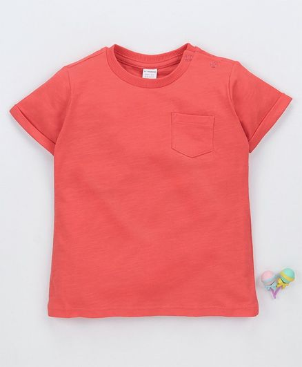 LC Waikiki Solid Half Sleeves Tee - Peach