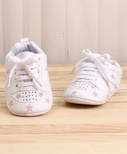 KIDLINGSS Star Embroidered Booties - Pink