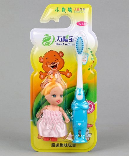 Baby Toothbrush with Doll - Pink Blue