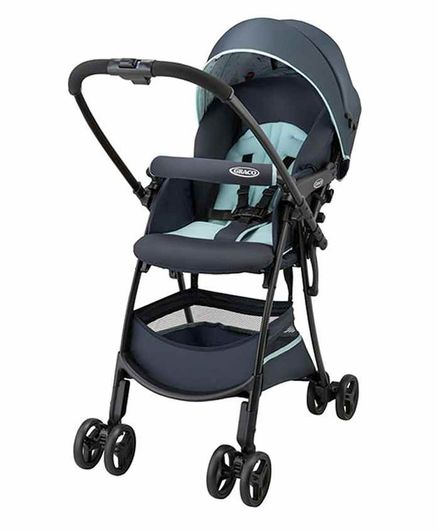 Graco Reversible Baby Stroller with Flat Recline - Blue Black